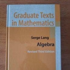 Livres: SERGE LANG: ALGEBRA. Lote 252281030