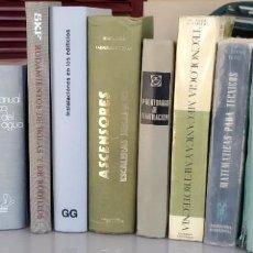 Libros: LIBROS TÉCNICOS DE INGENIERIA Y ARQUITECTURA. Lote 252778200