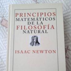Livres: NEWTON: PRINCIPIOS MATEMÁTICOS DE LA FILOSOFÍA NATURAL. Lote 254166735