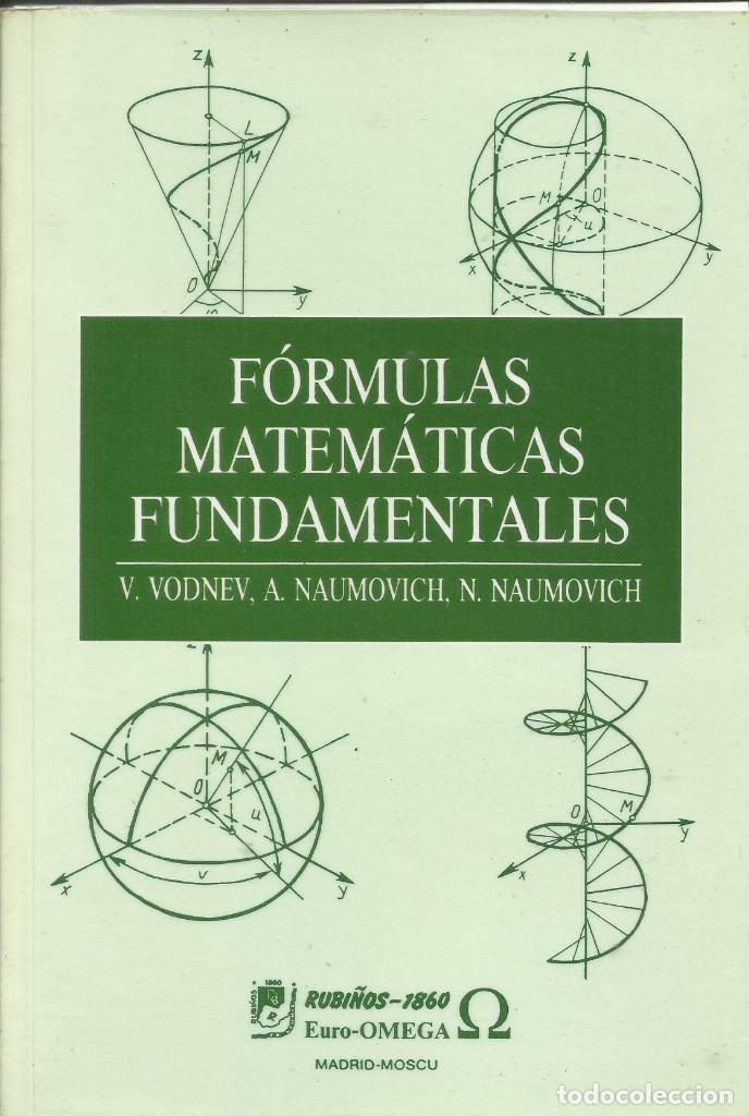FÓRMULAS MATEMÁTICAS FUNDAMENTALES. (Libros Nuevos - Ciencias, Manuales y Oficios - Física, Química y Matemáticas)