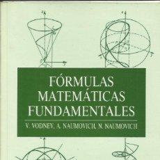 Livres: FÓRMULAS MATEMÁTICAS FUNDAMENTALES.. Lote 261626375