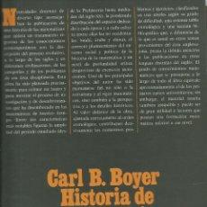 Livros: HISTORIA DE LA MATEMÁTICA / CARL B. BOYER.. Lote 261626680