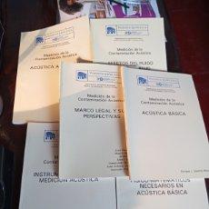 Livres: LOTE DE 6 VOLÚMENES SOBRE LA MEDICIÓN DE LA CONTAMINACIÓN ACÚSTICA. Lote 261836105