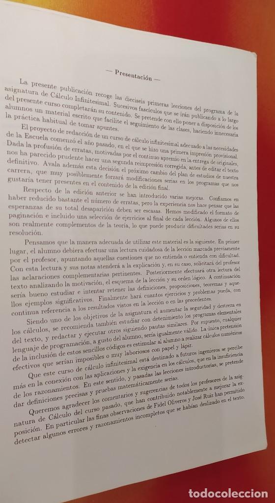 Libros: CÁLCULO INFINITESIMAL TOMÓ 1 - Foto 2 - 264292868