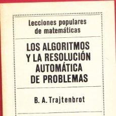 Libros: LOS ALGORITMOS Y LA RESOLUCIÓN AUTOMÁTICA DE PROBLEMAS.109 PÁGINAS.AÑO 1977. LE3947. Lote 267706989
