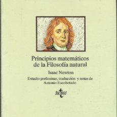 Libros: PRINCIPIOS MATEMÁTICOS DE FILOSOFÍA NATURAL / ISAAC NEWTON.. Lote 268771834