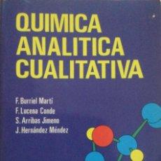 Libros: QUÍMICA ANALÍTICA CUALITATIVA. BURRITO. PARANINFO. NUEVO. Lote 270874623