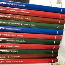 Libros: LOTE LIBROS CIENCIA: EINSTEIN GALILEO EUCLIDES KEPLER NEWTON FERMAT COPERNICO GÖDEL…. Lote 285260158