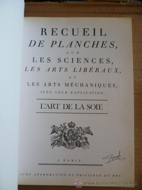 Libros: L'ENCYCLOPÉDIE DIDEROT ET D'ALEMBERT - L'ART DE LA SOIE / INTER LIVRES (en francés-ver fotos). - Foto 2 - 32527407