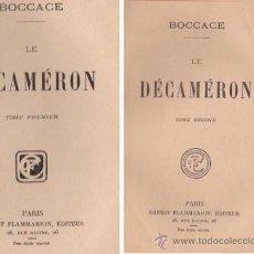 Libros: LES MEILLEURS AUTEURS CLASSIQUES--BOCCACE--LE DECAMERON--2 TOMES--ERNEST FLAMMARION, EDITEUR. Lote 32646973