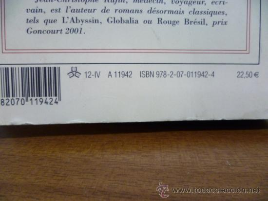 Libros: LE GRAND COEUR, Jean Christophe Rufin - roman (en frances) Editions Gallimard, 2012 - Foto 7 - 38790556