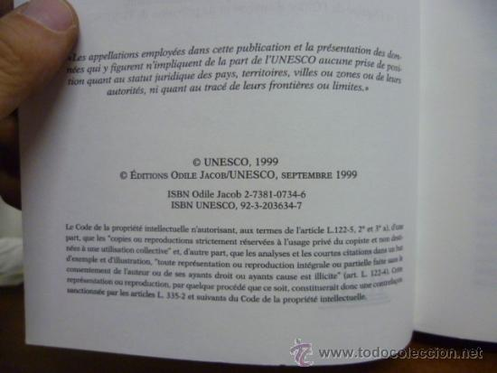 Libros: UN MONDE NOUVEAU, Frederico Mayor - Editions ODILE JACOB - 1999 (en frances) - Foto 4 - 38790583