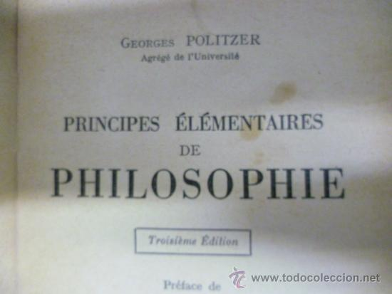 Libros: LIBRAIRIE JOSEPH GIBERT - Principes Elementaires de Philosophie, 1950 / 301 pag. (en frances) - Foto 5 - 39138970