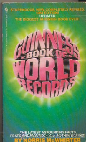 GUINNESS 1984 BOOK OF WORLD RECORDS. (704 PÁGINAS) (Libros Nuevos - Idiomas - Francés)