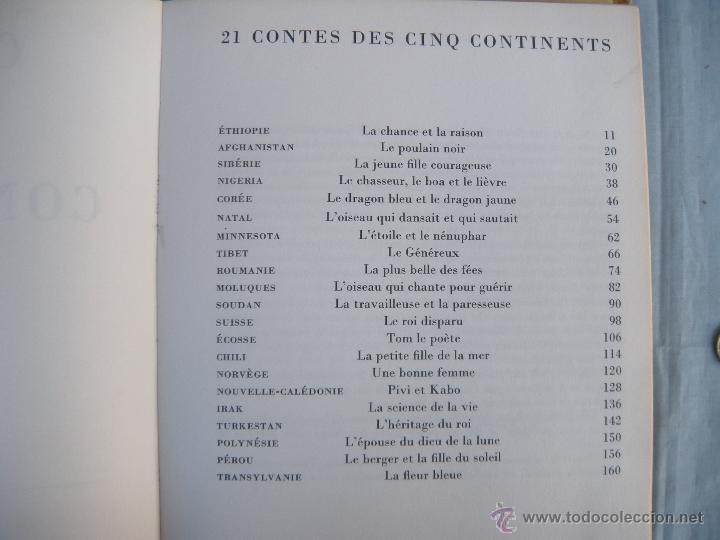 Libros: LIBRO. CONTES DES CINQ CONTINENTS. ADAPTADO POR RÉ ET PHILIPPE SOUPAULT. EN FRANCÉS. - Foto 4 - 40512475