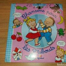 Libros: CHANSONS POUR LES P`TIBOUTS. LIBRO + CD.. Lote 79327482