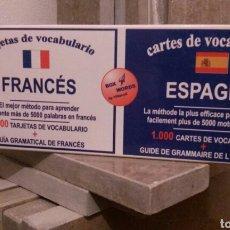 Libros: CARTAS DE VOCABULARIO BILINGÜES FRANCÉS/ ESPAÑOL. Lote 112258018