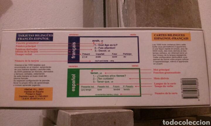 Libros: Cartas de vocabulario bilingües francés/ español - Foto 2 - 112258018