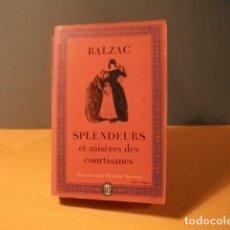 Libros: NOVELA DE BALZAC ,ANTIGUA. Lote 112737135