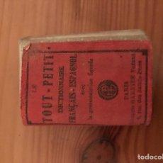 Libros: MINI DICCIONARIO ESPAÑOL-FRANCÉS. -GUÍA TOUT PETIT-. Lote 118179771