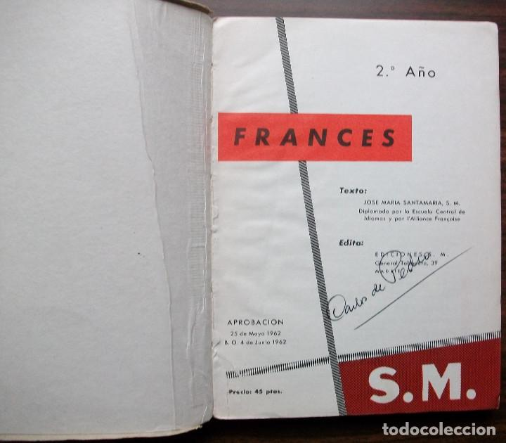 Libros: FRANCES. 2º EDITORIAL S.M. 1962 - Foto 2 - 138121962