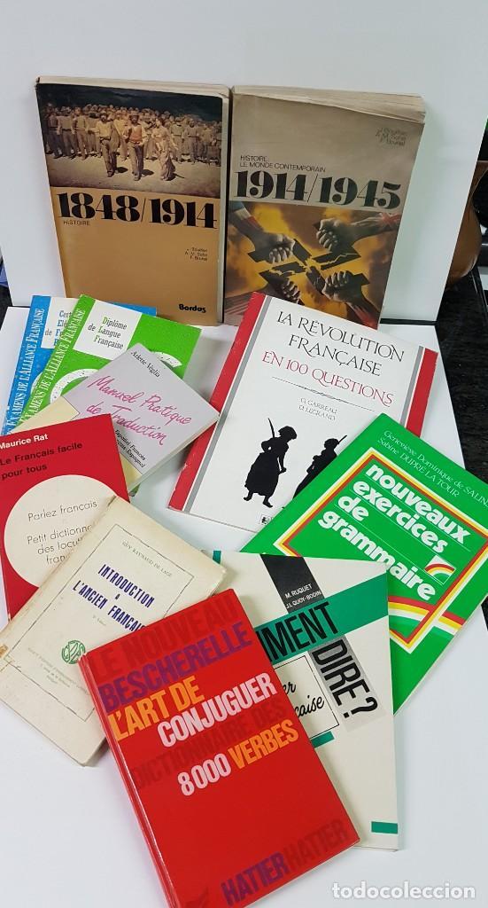 LOTE DE 11 LIBROS EN FRANCÉS DE HISTORIA, GRAMÁTICA, TRADUCCIÓN, DIPLOMA DE ALLIANCE FRANÇAISE.... (Libros Nuevos - Idiomas - Francés)