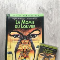 Libros: LIBRO + CASSETTE CURSO DE FRANCES PRINCIPIANTE LA MOMIE DU LOUVRE - LE CHAT NOIR. Lote 141195814