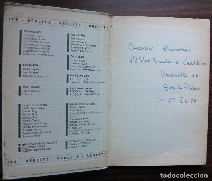 Libros: FRANÇAIS. DEUXIÈME LIVRE. BERLITZ. 216ª EDITION 1960 - Foto 2 - 147674918