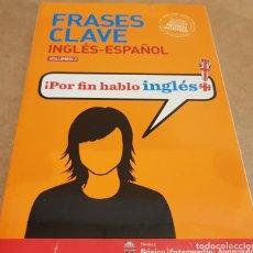 Libros: FRASES CLAVE / INGLÉS-ESPAÑOL - VOLUMEN 2 / METODO VAUGHAN / LIBRO PRECINTADO. Lote 147879590