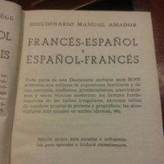 Libros: BJS.DICCIONARIO FRANCES-ESPAÑOL.ESPAÑOL-FRANCES.EDT, SOPENA.BRUMART TU LIBRERIA.. Lote 154800898