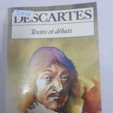 Libros: 21040 - DESCARTES - Nº 5003 - POR GENIEVE RODIS LEWIS - AÑO 1984 - EN FRANCES. Lote 168428440