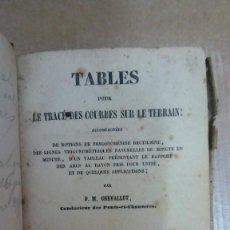 Libros: 23092 - TABLES POUR LE TRACE DES COURBES SUR LE TERRAIN - POR P. M. CHEVALLOT - EN FRANCES - AÑO ?. Lote 170478736