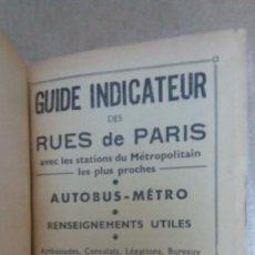 Libros: 23096 - GUIDE INDICATUEUR DES RUES DE PARIS - EN FRANCES. Lote 170481336