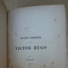 Libros: 23103 - LES MISERABLES II - POR VICTOR HUGO - EDITION HETZEL - AÑO ? - EN FRANCES. Lote 170492344