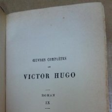 Libros: 23098 - LES MISERABLES V - POR VICTOR HUGO - EDITION HETZEL - AÑO ? - EN FRNACES . Lote 170492656