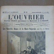 Libros: 23206 - L'OUVRIER - JOURNAL ILLUSTRE LE MERCREDI ET LE SAMEDI - AÑOS 1902 A 1904 - EN FRANCES . Lote 170896695