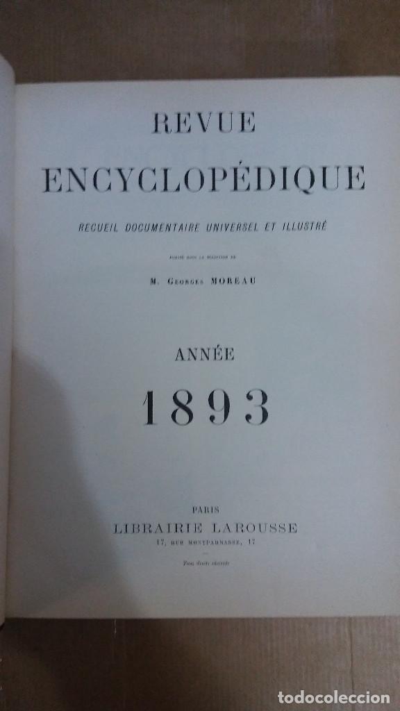 22977 - REVUE ENCYCLOPEDIQUE ANNE 1893 - POR M. GEORGES MOREAU - EN FRANCES (Libros Nuevos - Idiomas - Francés)