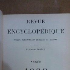 Libros: 22977 - REVUE ENCYCLOPEDIQUE ANNE 1893 - POR M. GEORGES MOREAU - EN FRANCES . Lote 170898285