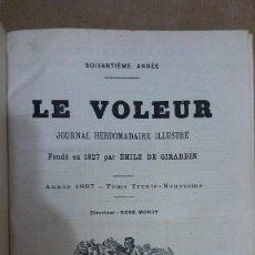 Libros: 23205 - LE VOLEUR - JOURNAL HEBDOMADAIRE ILLUSTRE - ANNE 1827 - EN FRANCES. Lote 170898895