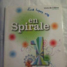 Libros: EN SPIRALE 1 LIBRE DEL ELEVE. Lote 177287458