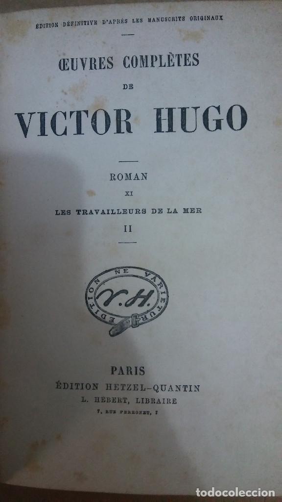 35930 - LES TRAVAILLEURS DE LA MER II - POR VICTOR HUGO - EDITION HETZEL - AÑO ? - EN FRANCES (Libros Nuevos - Idiomas - Francés)