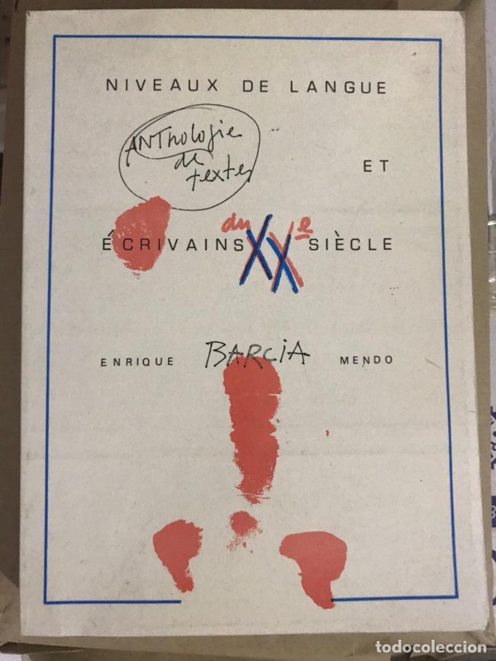 NIVEAUX DE LANGUE ET ESCRIVAINS XX SIECLE. ANTHOLOGIE DE TEXTES. (Libros Nuevos - Idiomas - Francés)