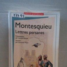 Libros: 27792 - LETTRES PERSANES - Nº 1482 - POR MONTESQUIEU - EDITION AVEC DOSSIER - AÑO 2016 - EN FRANCES . Lote 184416551