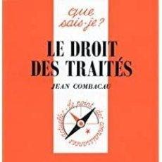 Libros: JEAN COMBACAU - LE DROIT DES TRAITÉS. Lote 207481790