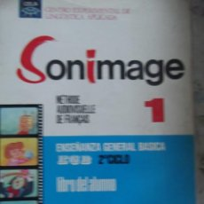 """Libros: LIBRO DE ENSEÑANZA IDIOMA FRANCÉS """"SONIMAGE"""". Lote 213890471"""