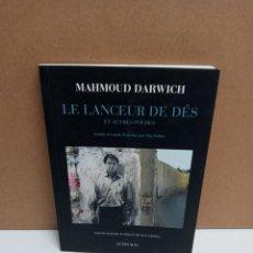 Libros: MAHMOUD DARWICH - LE LANCEUR DE DES - ACTES SUD. Lote 266757058