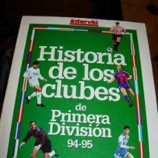 Coleccionismo deportivo: HISTORIA DE LOS CLUBS ESPAÑOLES 94-95-ZARAGOZA-BARCELONA-REAL MADRID-VALENCIA... Lote 27368754
