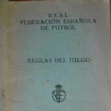 Coleccionismo deportivo: REGLAS DEL JUEGO.. Lote 24494474