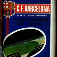 Coleccionismo deportivo: BOLETÍN OFICIAL INFORMATIVO C. F. BARCELONA (1971) 12 NUMEROS ENCUADERNADO BARÇA. Lote 27451774