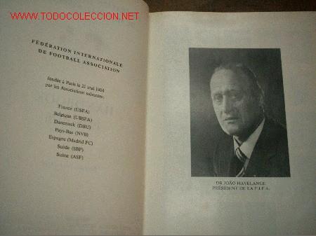 Coleccionismo deportivo: FIFA sobre la Federacion 1975-1976 escrito en Frances y en Español.Editado en Suiza - Foto 3 - 26863461